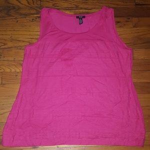 Alfani hot pink lace tank top 3x